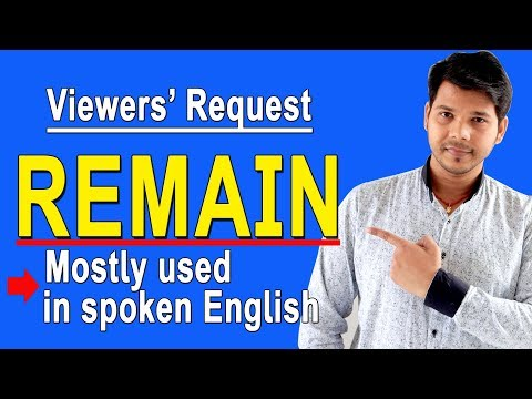 REMAIN IN ENGLISH SPEAKING