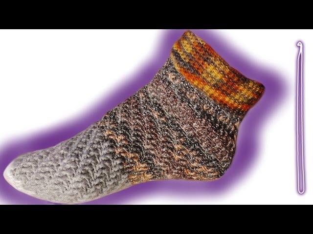 Socken häkeln leicht gemacht | Schneewittchen`s Welt