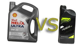 Shell helix ultra ect 0w-30 vs Mazda dexelia ultra 5w-30 cold oil test -24°C