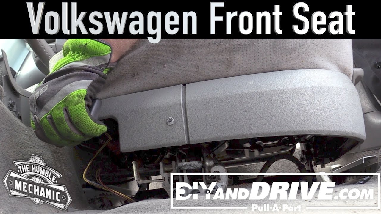 How To Remove A Vw Front Seat Salvage Yard Tips Youtube