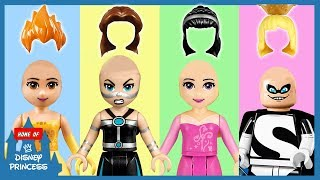 ♥ Learning Colors Wrong Hair Disney Princess Belle Aurora LEGO Finger Family Nursery Rhymes