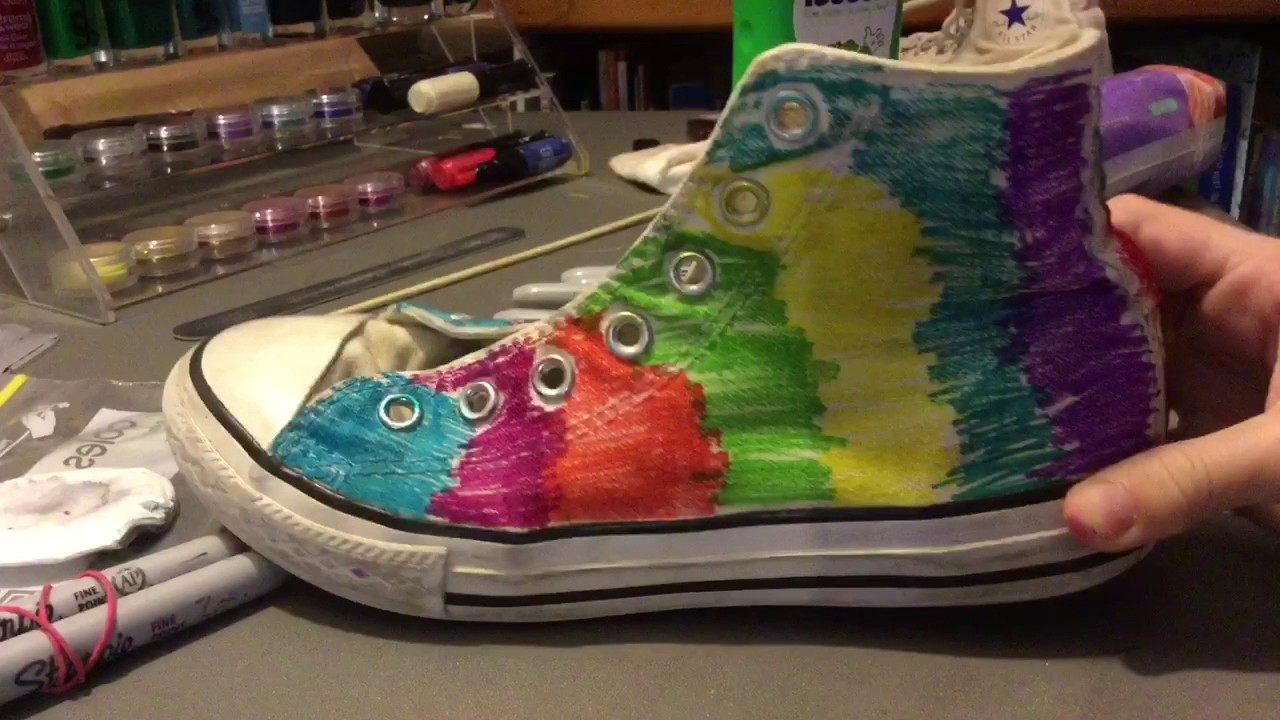 65c5c48504ec DIY Converse with SHARPIES! ! - YouTube