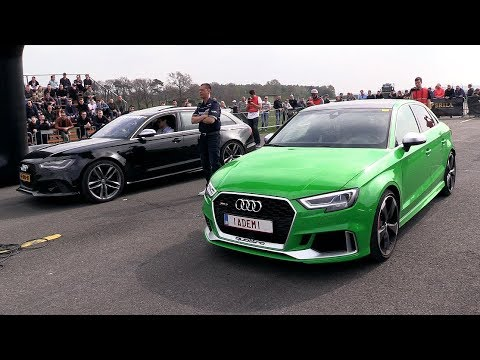Audi RS Sedan vs Ford Focus RS vs Mclaren S