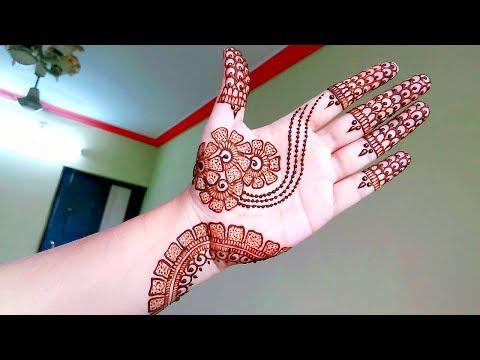 Elegant Arabic Henna Mehndi Design for beginners - Naush Artistica