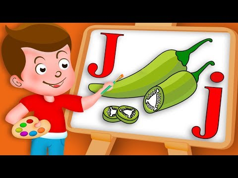 Drawing Alphabet J Letter Jalapeno Vegetable Drawing Paint And Colouring For Kids | Kids Drawing TV