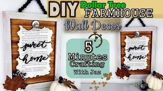 5 MINUTES CRAFTING No. 7 | FALL WALL DECOR | DOLLAR TREE DIY