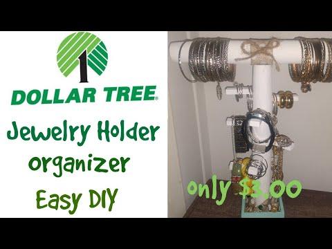Dollar Tree Jewelry Organizer Holder Easy DIY/only $3 to make