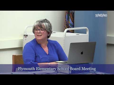Plymouth School Board 7/28/20