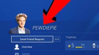 Looking at FAMOUS YOUTUBERS PS4 PROFILES (PEWDIEPIE AND MORE!)