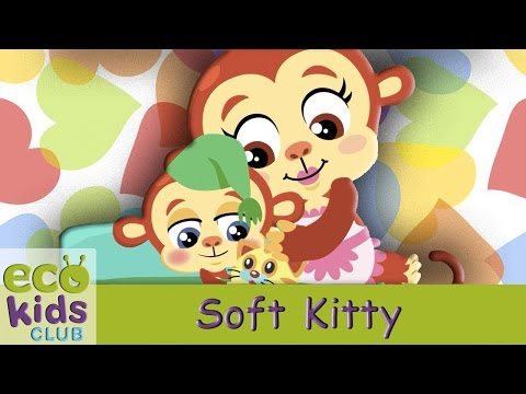 Soft Kitty, Warm Kitty from EcoKids Club  Children Nursery Rhyme  Kids Songs