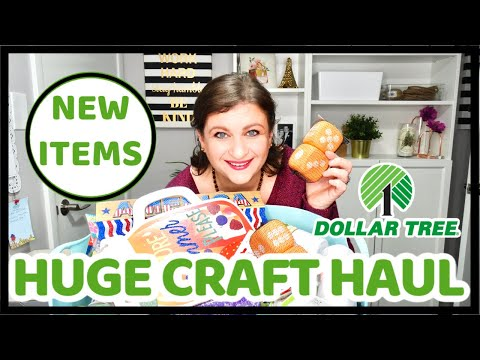HUGE DOLLAR TREE HAUL 🌳 CRAFT SUPPLIES NEW PRODUCTS AND RIBBON SHOP ITEMS