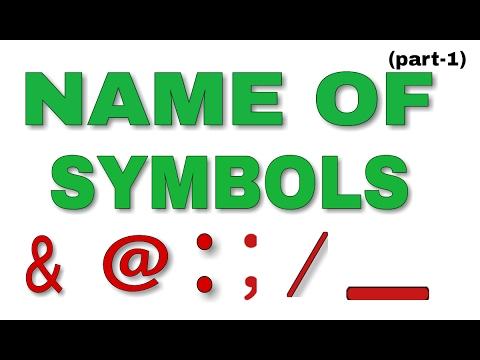 Name of Symbols -1