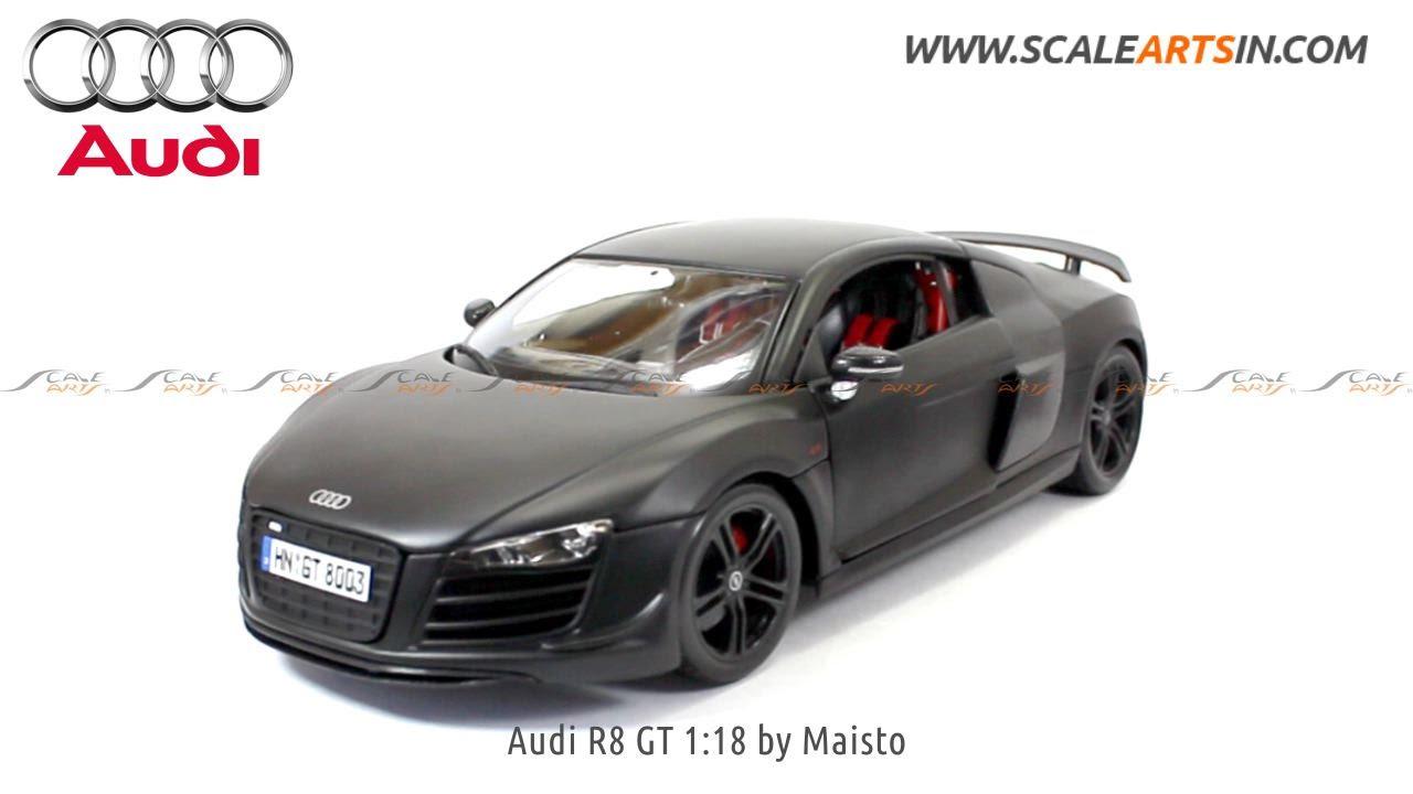 Audi R8 Gt Matte Black 1 18 By Maisto Diecast Scale Arts