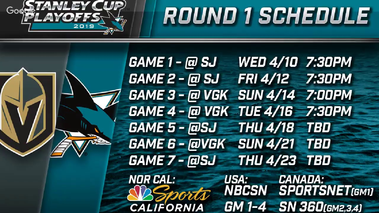 Teal Town LIVE! - San Jose Sharks Playoff Schedule Show