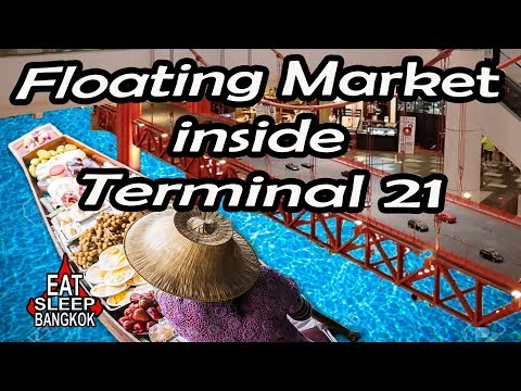 Floating market in Terminal 21