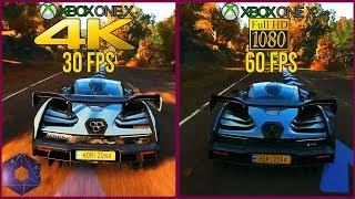 [4K] Forza Horizon 4 4K 30 FPS vs 1080P 60 FPS | Xbox One X Quality vs Performance Preset