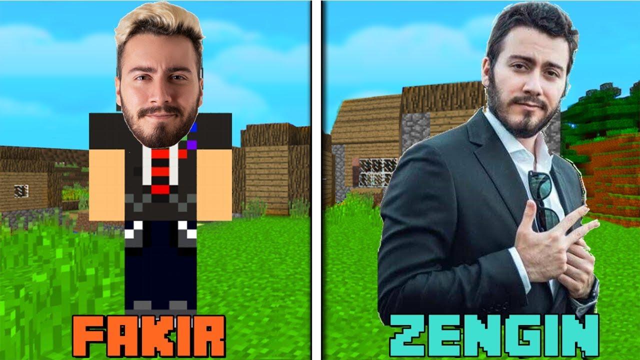 Fakir Enes Batur Vs Zengin Enes Batur Minecraft Youtube