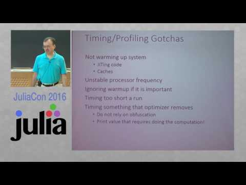 JuliaCon 2016 | Introduction to Writing High Performance Julia (Workshop) | Arch D. Robison