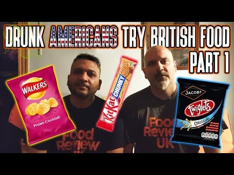 Drunk Americans Try British Food   Part 1   Twiglets & More