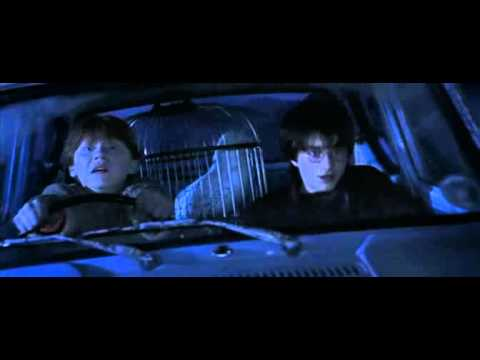 Harry and Ron on the flying car
