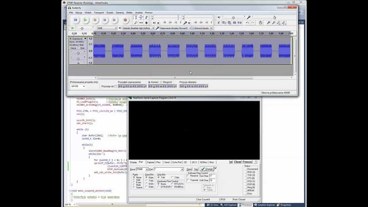 Dekodowanie Dtmf Przy Pomocy Vs1003b Decoding Tones Using Decoder Ic Working Electronic Circuits Youtube
