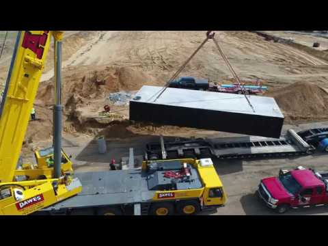 Wieser Concrete Fire Protection Tank Installation