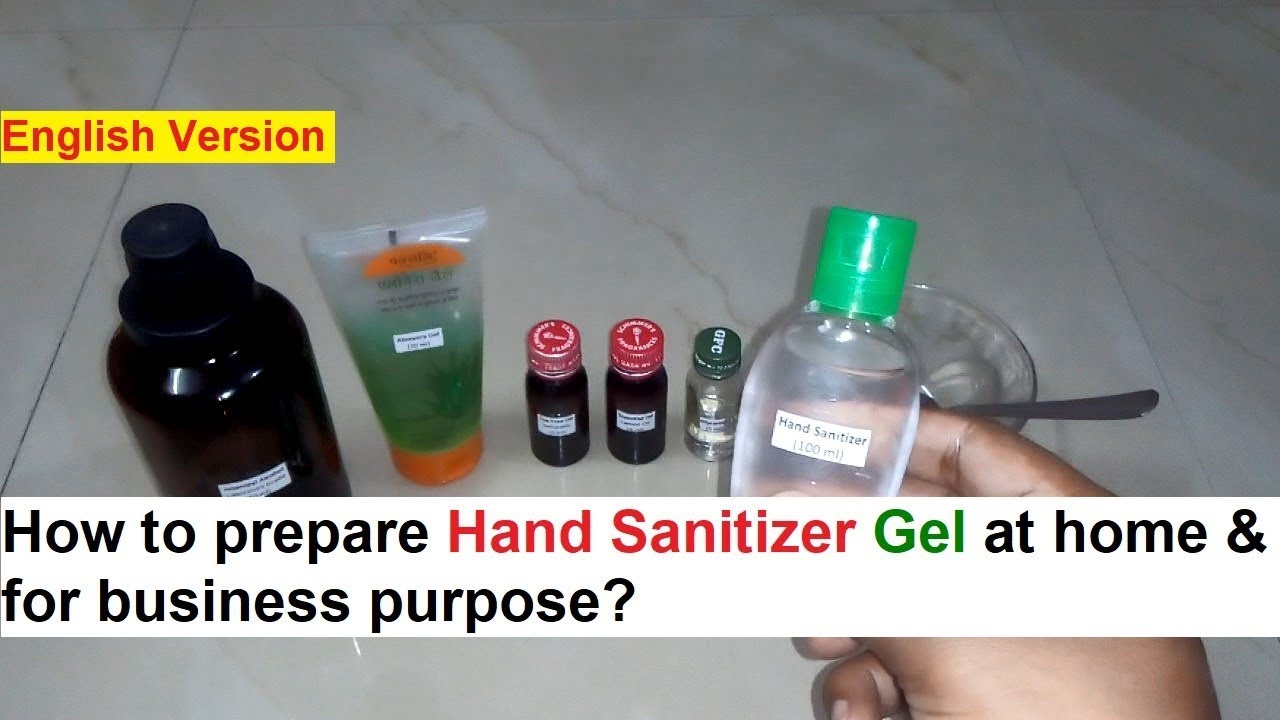 Hand Sanitizer Gel Making 100 Real Formula Youtube