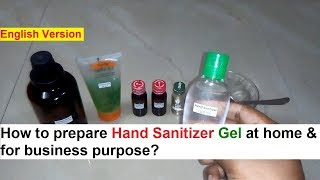 This video describes the process of manufacturing hand sanitizer gel or sanitiser antiseptic disinfectant. isopropyl alcohol buy link - ...