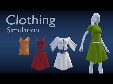 Low poly character clothing [blender 3d]