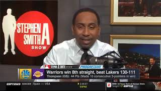 Stephen A. Smith Show 1/22/2019 Warriors BEAT Lakers, Patriots vs. Rams preview