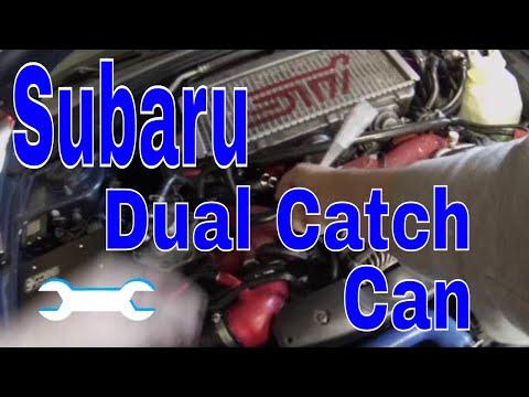Dual oil catch can setup install part1 how-to WRX STi Subaru Impreza PCV and crankcase vents EBay
