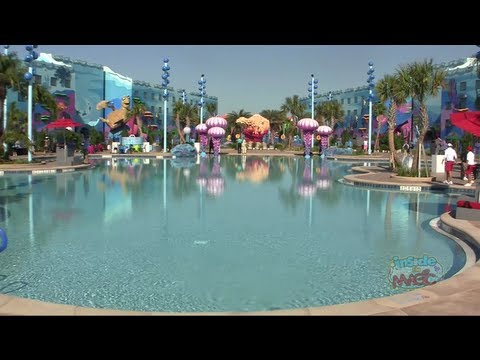 Finding Nemo Pool At Disney 39 S Art Of Animation Resort With Play Areas Youtube