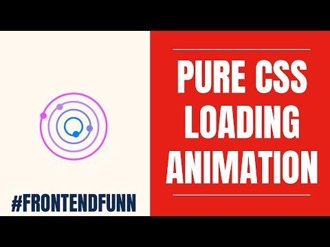 Pure CSS Orbit Planet Spinner Tutorial - #frontendfunn - YouTube