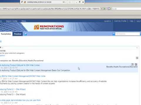 Demo of the new IBM Lotus Web Content Management JSR286 portlet