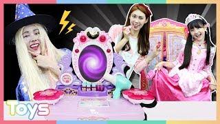 공주로 변신할 수 있는 화장대?! 라푼젤 미미 화장대와 드레스 옷장 장난감 놀이ㅣ캐리와장난감친구들