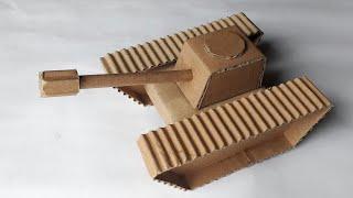 Cara buat miniatur tank dari kardus