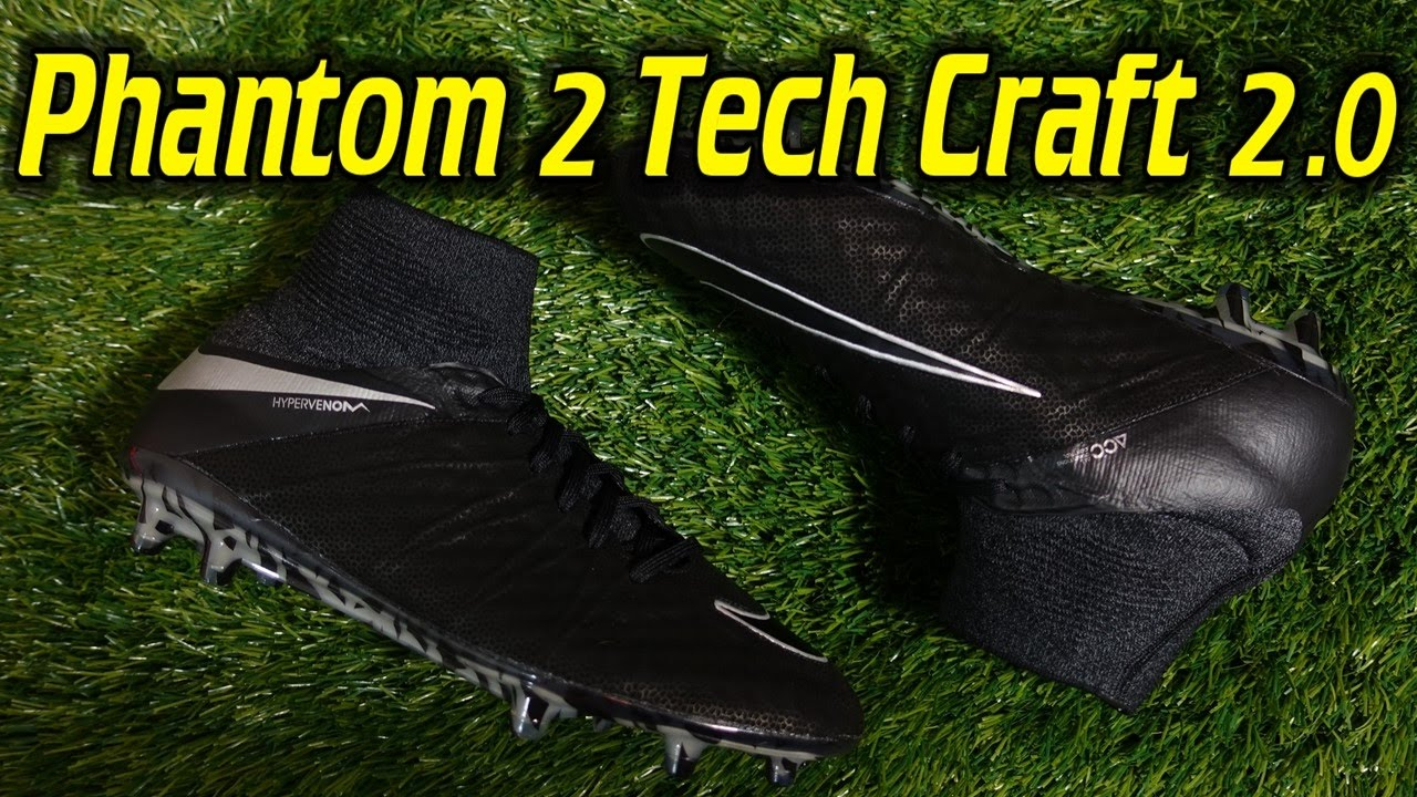 Tech Craft 2.0 Nike Hypervenom Phantom 2 (Black Metallic Silver) - Review +  On Feet 7a0852bde