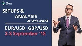 EUR/USD, GBP/USD Analysis & Setups 2-3 September '18