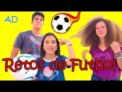 RETOS DE FUTBOL CON SEBASTIAN Y ESME!!! | TV ANA EMILIA