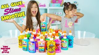 GIANT GLUE SLIME SMOOTHIE - Mixing ALL Our Glue Challenge