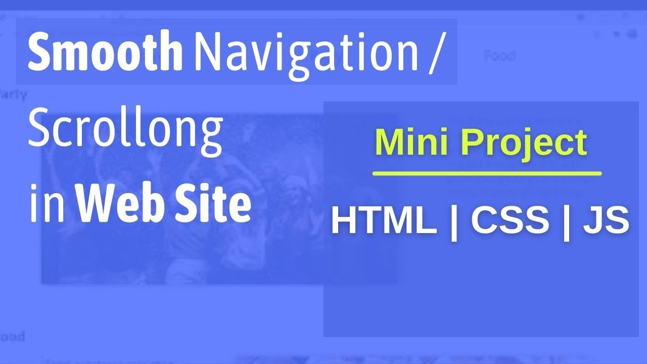 Navigation within WebPage using HTML CSS & Javascript