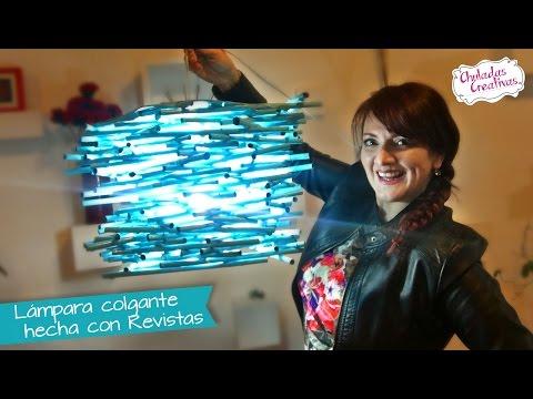 Lampara Colgante de Revistas :: Chuladas Creativas