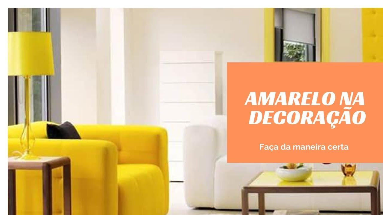 a3dbd59e34 Como usar amarelo na decoração do ambiente - YouTube