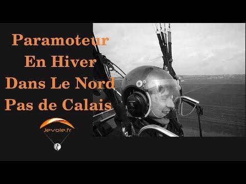 Paramoteur en hiver Nord pas de Calais