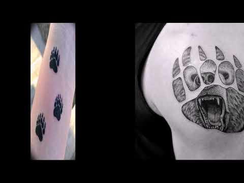 Значение тату медвежья лапа - примеры рисунков нанесенных на тело тату