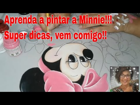 Pintando A Minnie Com Laurenice Amorim Parte 3 Youtube