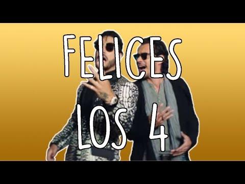 FELICES LOS 4 (SALSA - LETRA) l MALUMA ft. MARC ANTHONY