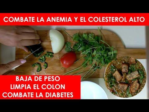 Dieta para combatir la anemia y el colesterol