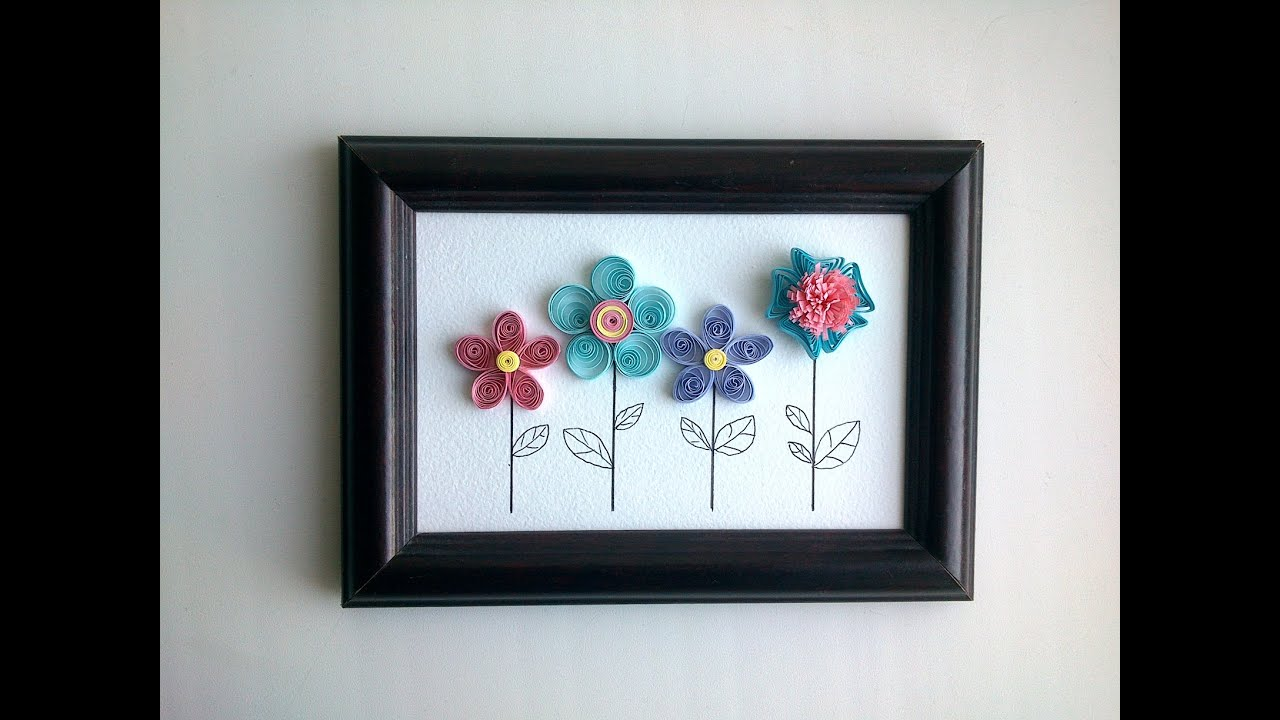 Paper quilling design how to make quilling wall decor with a paper quilling design how to make quilling wall decor with a quilling flowers youtube amipublicfo Gallery