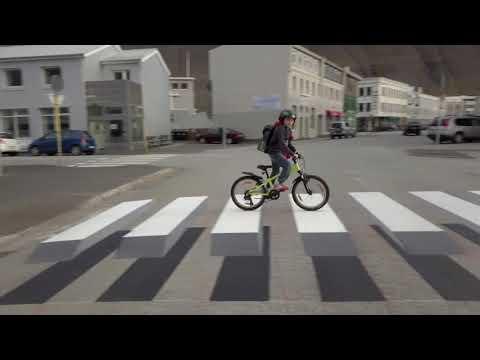 La ilusión óptica llega a las calles de Islandia